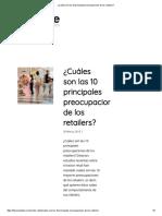 ¿Cuáles Son Las 10 Principales Preocupaciones de Los Retailers
