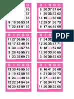1 COM 6 Cartones Bingo 75 Bolas