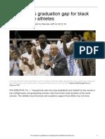black athletes low college grad rates 1150l