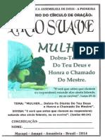 Folh - 48º Aniversário do Círculo de Oração Lírio Suave (AD-AP, 2014)