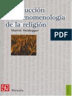 Heidegger Introduccion a La Fenomenologia de La Religion