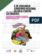 Reporte de Vigilancia del Observatorio Regional de la Violencia contra las Mujeres
