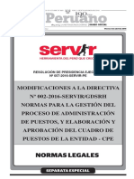SERVIR MODIFICACIONES