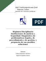 Régimen Disciplinario Instituciones de Justicia y Seguridad - UCA