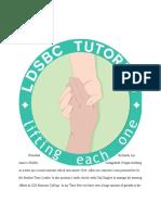 tutoring budget paper