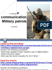 Military patrol radio communication