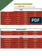 Class Schedule (Fall)
