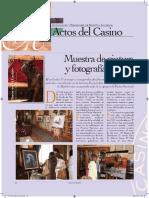 Madrid, Casino de . Muestra de pintura y fotografía taurina 2015. Madrid,Casino de Madrid,2015