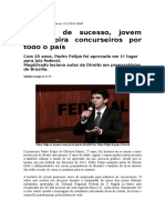 Exemplo de Sucesso, Jovem Juiz Inspira Concurseiros Por Todo o País
