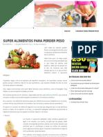 Super Alimentos Para Perder Peso - Perdiendo Peso
