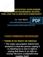 Forbidden Sentences, Worldviews, Marxism, Postmodernism, Scopes Trial and the Clash With Christianity Dr. Jobe Martin-ppt-98