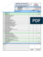 Lista de Entrega de Proyecto