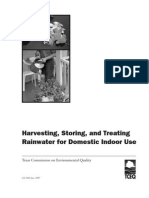 Harvesting, Storing and Treating Rainwater