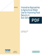 Innovative Approaches to Agricultural Water Use