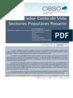 Informe Costo de Vida Marzo | Sectores Populares Rosario