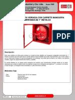 Ficha Técnica Gabinete Puerta Vidriada Con Carrete Metalsa Semirrigido d...