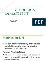 Topic 10 - Direct Foreign Investment