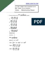 Latihansoal Matematikadasar USMITB 2010