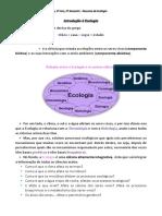 1ª Aula Introdução à Ecologia PDF