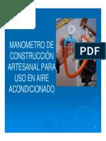 Anexo 16- Aire Acond. Manometro Artesanal