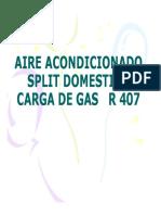 Anexo 15- Aire Acond. Split Carga Gas r407
