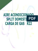 Anexo 15- Aire Acond. Split Carga Gas r22