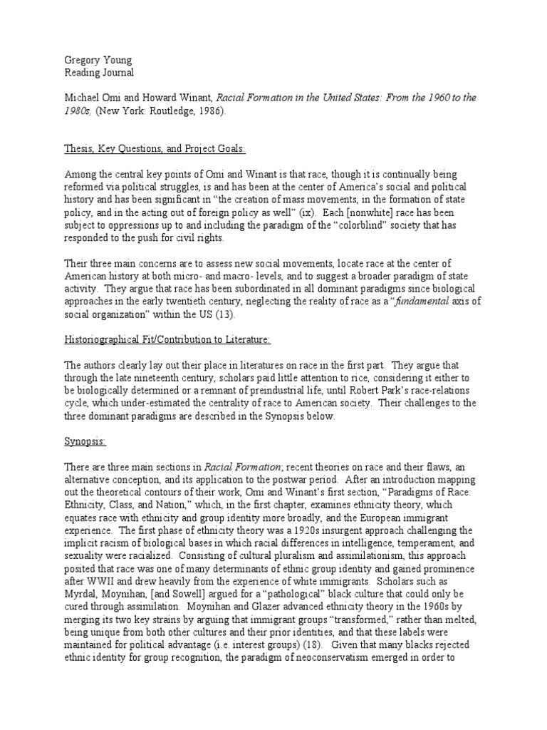 racism ethnic identity 2 essay