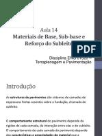 Aula 14 - Materias de Camada de Base Subbase e Subleito
