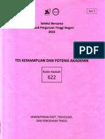 Naskah Soal SBMPTN 2015 Tes Kemampuan dan Potensi Akademik (TKPA) Kode Soal 622 by [pak-anang.blogspot.com].pdf