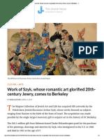 Work of Szyk, Whose Romantic Art Glorified 20th-Century Jewry, Comes to Berkeley