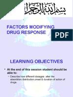 Factors Affecting Drug Response
