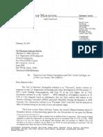 Houston's letter to HUD