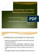 Community Gardening and Urban Aboriginal Food Security