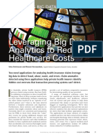 Leveraging Big Data Analytics to Reduce Healthcare Costs