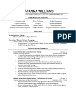Ayanna Williams's Resume
