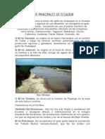 Rios Principales de Ecuador
