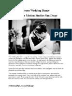 Wedding Dance San Diego