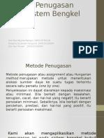 UAS RISET OPERASIONAL_Metode Penugasan Pada Sistem Bengkel Bubut.pptx