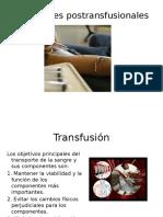 Reacciones transfucionales.