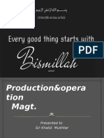 Prod&Opertn magt.