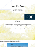 fallacy slide presentation- dicto simpliciter