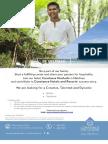 Waiter, Gardenercmm16 Corporate Vacancies Ad by Email