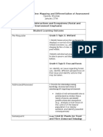 mapping and differentiation of assessment