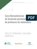 Tema12. Polinomios y Fracciones Algebraicas