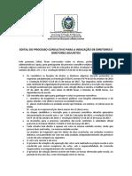 Edital de Convocação de Eleição para Direção IECD.