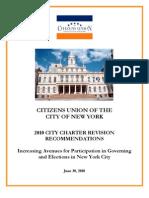 Citizens Union Charter Revision Report
