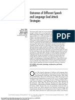 Outcomes of Different Speech and Language Goal Attack Strategies