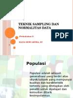 Teknik Sampling Normalitas Data