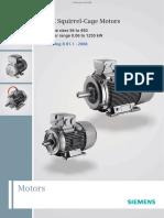 Catalogue động cơ điện (motor) Siemens