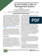 Maintaining Soil Fertility Under an Organic
